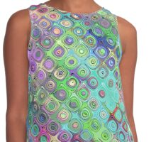 Abstract Pattern of Colorful Shapes  Contrast Tank