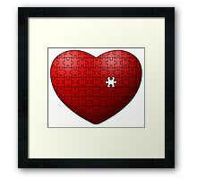 Puzzle Heart missing last piece Framed Print