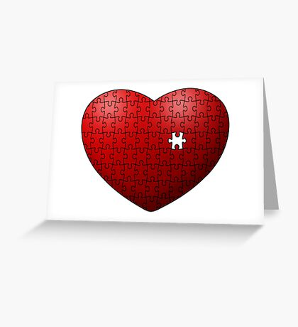 Puzzle Heart missing last piece Greeting Card