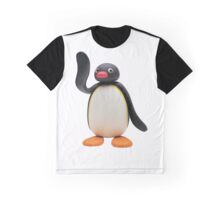Pingu Waving Design Graphic T-Shirt