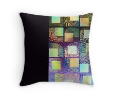 Black mushroom tall Throw Pillow