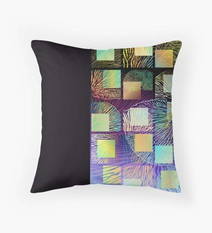Black mushroom tall Throw Pillow