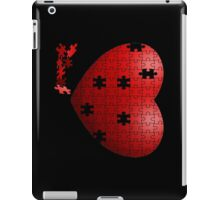 Puzzle Heart in pieces, missing some pieces to complete iPad Case/Skin