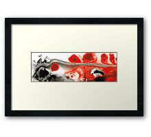 All Things Considered - Red Black And White Art Framed Print