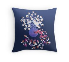 Monster Mushroom Throw Pillow