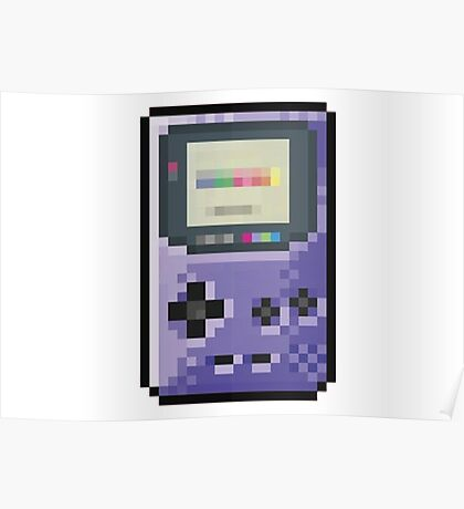 cool gameboy 8bit art Poster