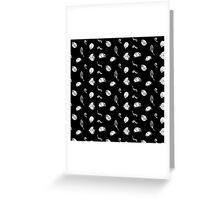 Lady Bug Design Black Greeting Card