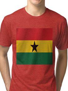 Ghana flag Tri-blend T-Shirt