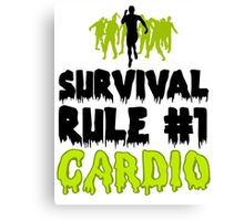 Survival Cardio Canvas Print