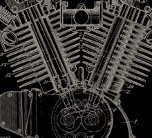 Harley Davidson Engine Patent 1923 Sticker