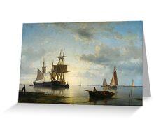 Abraham Hulk, Sailing Ships at Dusk, Greeting Card