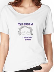 I Voted For Bernie Women's Relaxed Fit T-Shirt