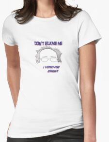 I Voted For Bernie Womens Fitted T-Shirt