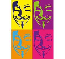 Guy Fawkes PopArt Photographic Print