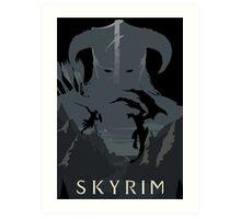 Skyrim Poster (black) Art Print