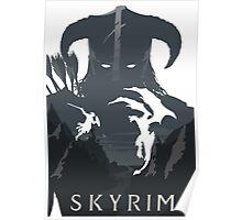 Skyrim Poster (white) Poster