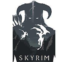 Skyrim Poster (white) Photographic Print