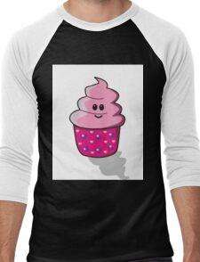 Kawaii Cupcake Men's Baseball ¾ T-Shirt