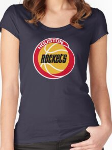 HOUSTON ROCKETS BASKETBALL RETRO Women's Fitted Scoop T-Shirt
