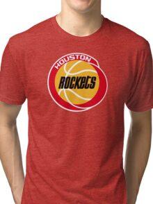 HOUSTON ROCKETS BASKETBALL RETRO Tri-blend T-Shirt