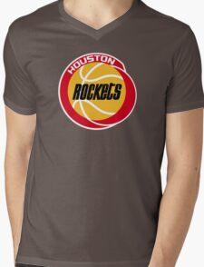HOUSTON ROCKETS BASKETBALL RETRO Mens V-Neck T-Shirt