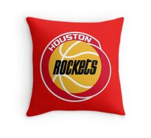 HOUSTON ROCKETS BASKETBALL RETRO Throw Pillow