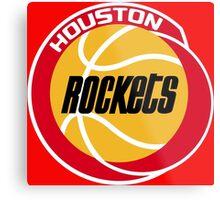 HOUSTON ROCKETS BASKETBALL RETRO Metal Print