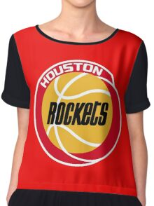 HOUSTON ROCKETS BASKETBALL RETRO Chiffon Top