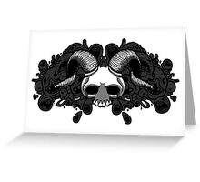 Lamb Skull Greeting Card