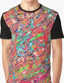Expressive Abstract Grunge Graphic T-Shirt