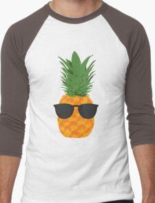 Cool Pineapple With Sunglasses Men's Baseball ¾ T-Shirt