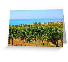 Bellarine vineyards Greeting Card