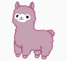 Pink Alpaca One Piece - Short Sleeve