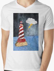 Lighthouse Mens V-Neck T-Shirt