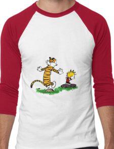 calvin hobbes jump Men's Baseball ¾ T-Shirt