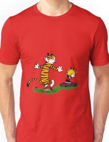 calvin hobbes jump Unisex T-Shirt