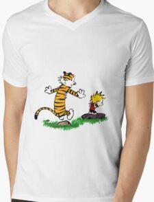 calvin hobbes jump Mens V-Neck T-Shirt