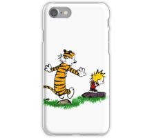 calvin hobbes jump iPhone Case/Skin
