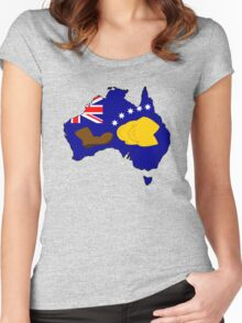 SIMPSONS VS AUSTRALIA Women's Fitted Scoop T-Shirt