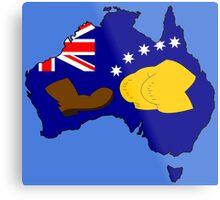 SIMPSONS VS AUSTRALIA Metal Print