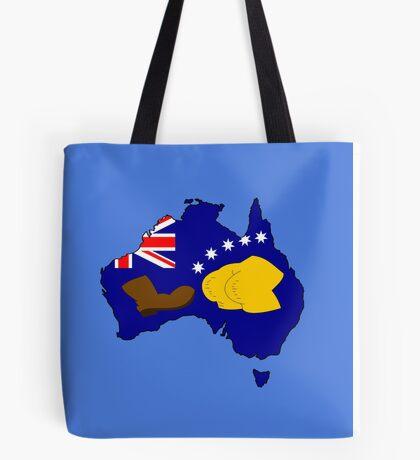 SIMPSONS VS AUSTRALIA Tote Bag