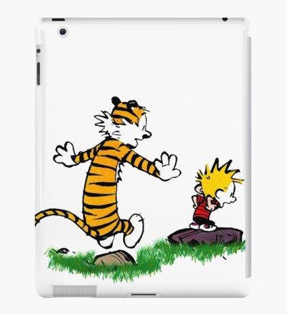 calvin hobbes jump iPad Case/Skin