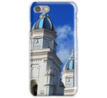 Bell Towers in the Basilica in Quinche iPhone Case/Skin