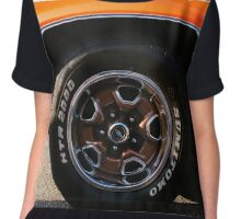 Orange Chevy Nova coupe left side front wheel Chiffon Top
