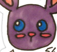 Purple Bunny Sticker