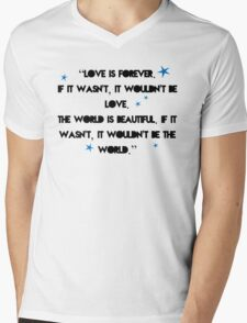 Love is forever - The 5th Wave quote Mens V-Neck T-Shirt
