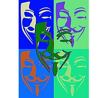 5 Fawkes PopArt Photographic Print