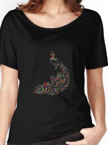 abstract Peacock Women's Relaxed Fit T-Shirt