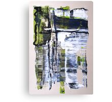 Life is not all beer and skittles, Original mixed media Abstract painting Canvas Print