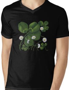 Cloverleaf - acrylic painting Mens V-Neck T-Shirt